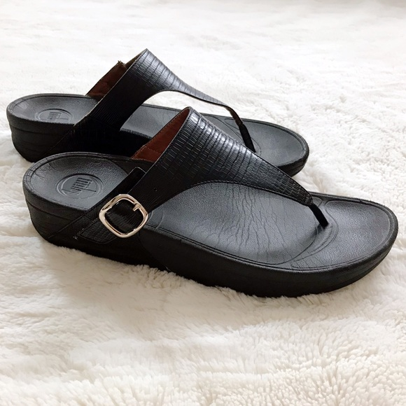 5bd851a6bca3 Fitflop Shoes - FitFlop Skinny Black Sandal